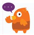Orange Bird vector image