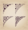 ornamental calligraphic corners in vintage style vector image