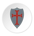 Protection shield icon flat style vector image