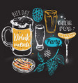 sketch beer round composition vector image