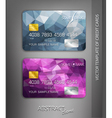 templates credit cards with abstract pattern vector image