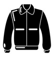 varsity jacket icon simple black style vector image
