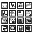 Black Business and Internet Icons vector image vector image