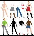 Fashion dolls vector image