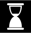 hourglass the white color icon vector image