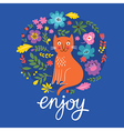 greeting card design enjoy lettering vector image vector image