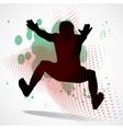 jumping man vector image
