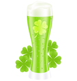 green beer vector image