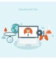 Doctor online Flat medical vector image