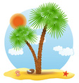 tropical palm tree 01 vector image vector image