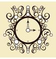 old vintage clock on beige background vector image