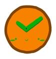 Cartoon clock icon vector image