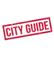 City Guide rubber stamp vector image