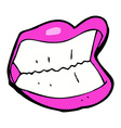 Comic cartoon grinning mouth vector image