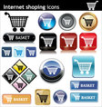 internet shopping e commerce vector image