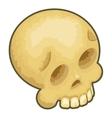 Isometric Skull Icon Symbol Isolated Cartoon 3d vector image