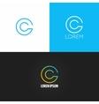 letter C logo alphabet design icon set background vector image