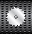 Metal saw vector image