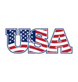 usa lettering flag of america and letters vector image