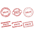 Paid stamps vector image