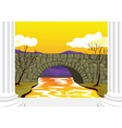 bridge made up of stones vector image vector image