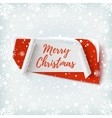 Merry Christmas abstract red and white banner vector image vector image