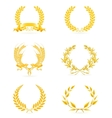 Golden wreath set vector image vector image
