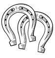 doodle horseshoes vector image