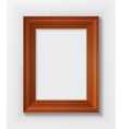 Classic wooden frame isolated on white background vector image