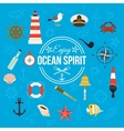 Enjoy ocean spirit Summer nautical typographical vector image