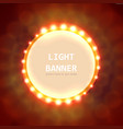 abstract circle light banner vector image