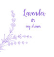 beauty lavender skin care design vector image