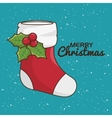 christmas socks decoration kawaii style vector image