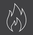 flammable symbol line icon logistic vector image