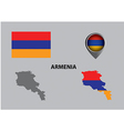 Map of Armenia and symbol vector image
