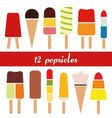 popsicle collection vector image