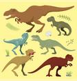 scary dinosaurs tyrannosaurus t-rex danger vector image