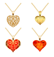 Set of pendants with precious stones vector image