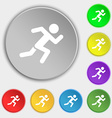 simple running human icon sign Symbol on eight vector image