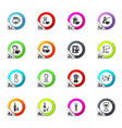 utensils for the beverages icons set vector image
