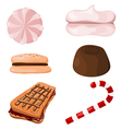 Set of sweets Cartoon eps10 vector image vector image