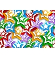 Seamless background with stars vector image vector image