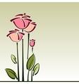 Stylized roses flower cart background vector image