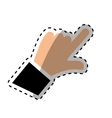 Hand with finger touching something vector image