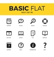 Basic set of help icons vector image