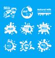 milk or yogurt or cream labels badges sign vector image