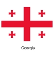 Flag of the country georgia vector image vector image