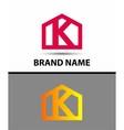 Letter k logo real estate symbol vector image