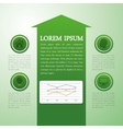 Infographic icon design vector image