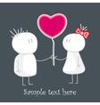 Babies in love vector image